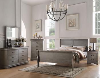 NIMES Aged Gray Bedroom Set
