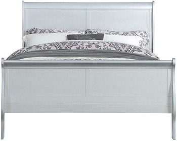 NIMES Silver Sleigh Bed