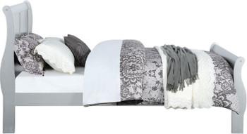 NIMES Silver Sleigh Bed