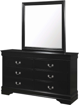 "NIMES Black 58.3"" Wide Dresser & Mirror"