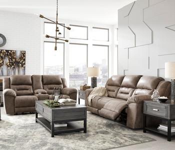 PERSES Oak Reclining Sofa & Loveseat