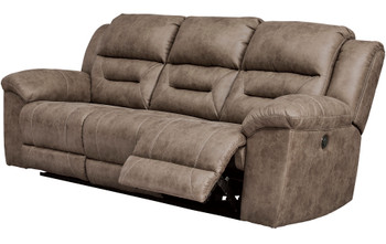 "PERSES Oak 93"" Wide Reclining Sofa"