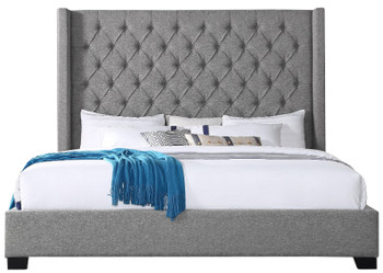 Neil Grey Tufted Bed