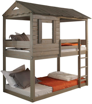 LIAM Gray House Bunkbed