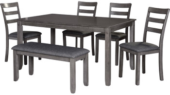 OLSEN Gray 6 Piece Dining Set