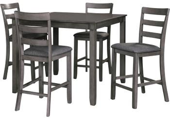 OLSEN Gray 5 Piece Counter Dining Set