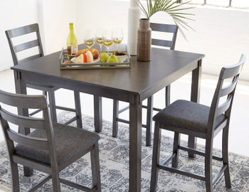 OLSEN Gray 5 Piece Counter Dining Set