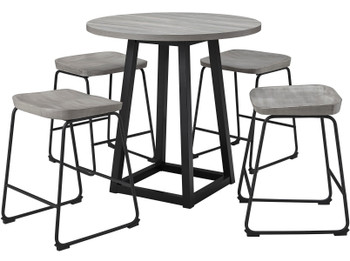 REEPA Gray 5 Piece Counter Dining Set
