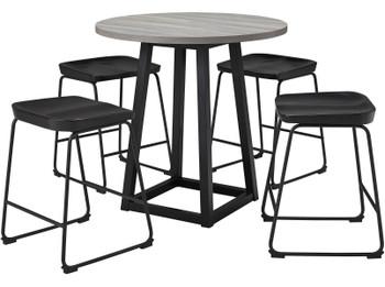 REEPA Black 5 Piece Counter Dining Set