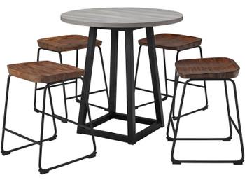 REEPA Brown 5 Piece Counter Dining Set