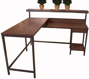 "LUIS 55"" Wide L-Shaped Desk"