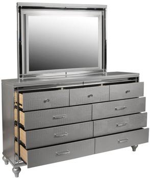 Vanessa Silver Dresser & Mirror