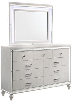 Vanessa White Dresser & Mirror