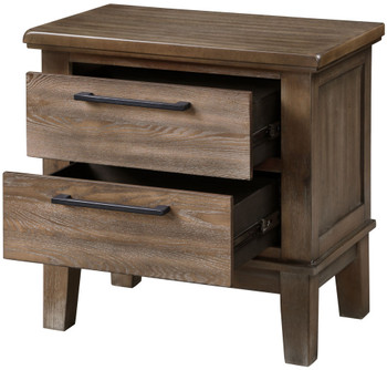 NELA Gray Distressed Nightstand
