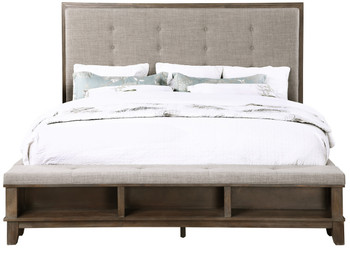 NELA Gray Distressed Bed