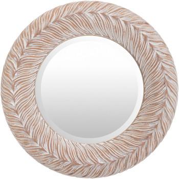 "DHARMA 18"" Tan Wall Mirror"