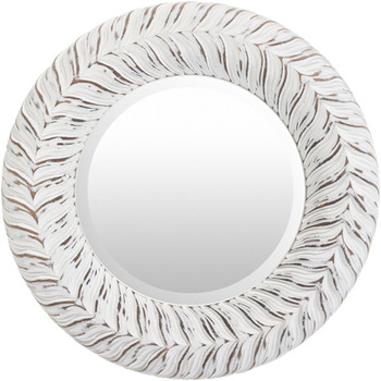 "DHARMA 18"" White Wall Mirror"