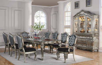 Antoinette Platinum 9 Piece Dining Set