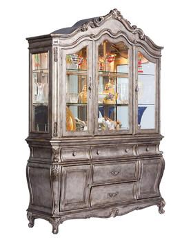 Antoinette Antique Platinum Buffet & Hutch