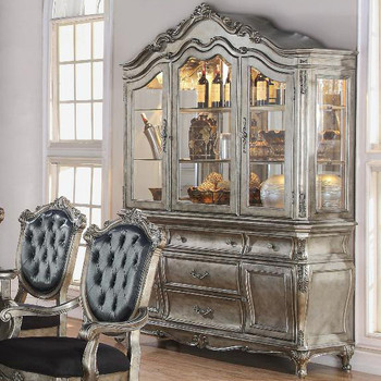 Antoinette Antique Platinum Buffet & Hutch