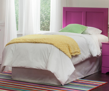 LEONE Purple Headboard Bed