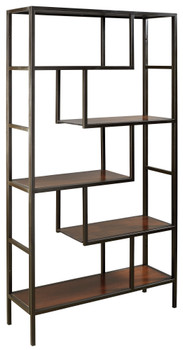 "CHASEN Black 36"" Wide Bookcase"