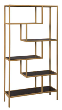 """CHASEN Gold 36"""" Wide Bookcase"""