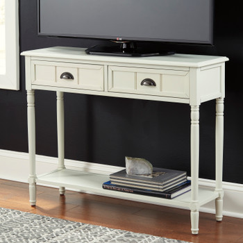 Keelan White Sofa Table