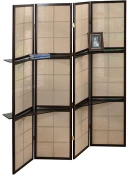 Harper Room Divider with Shelves