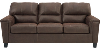 "VUHL Dark Brown 89"" Wide Sofa"
