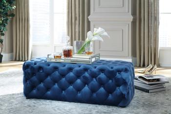 Puna Blue Ottoman