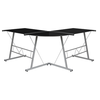 Anzo Black L-Shaped Desk