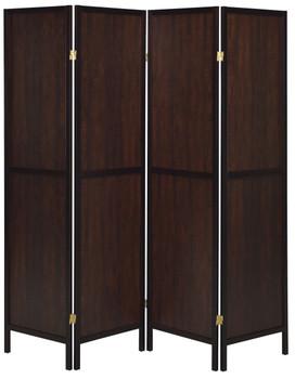 BETHEL Brown 4-Panel Room Divider