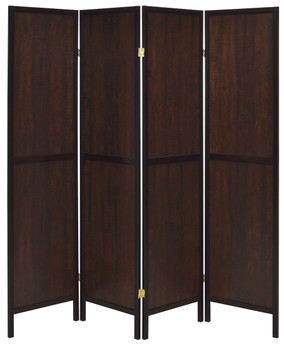 BETHEL Brown 4-Panel Room Divider