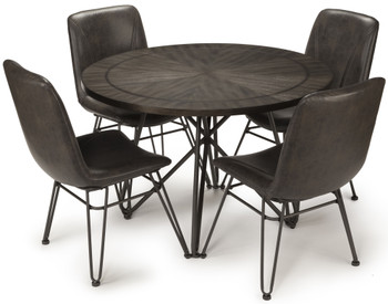 Waylon Gray 5-PC Dining Set