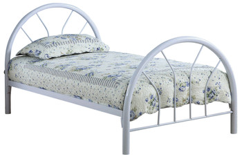 Merrick White Twin Metal Bed