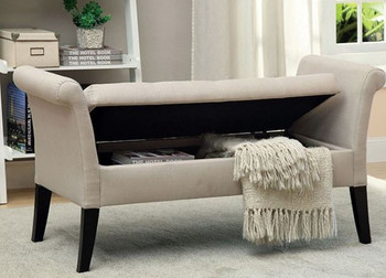 JESSICA Beige Storage Bench
