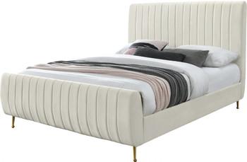 SETH Beige Velvet Bed