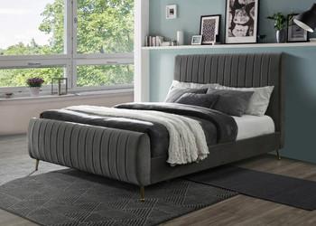 SETH Gray Velvet Bed