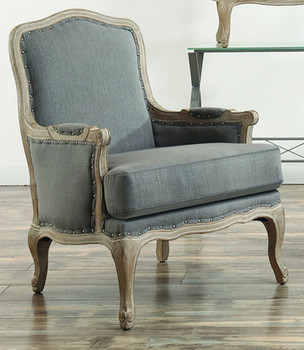 MATEO Gray Accent Chair