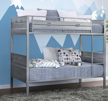 Derring Silver Twin over Twin Bunkbed