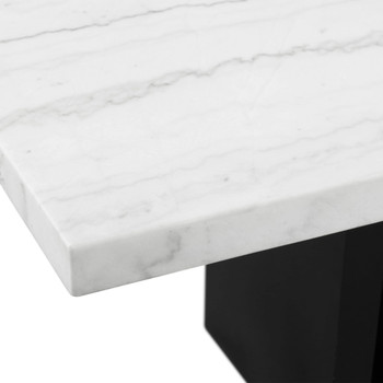 "VALERY White Marble 70"" Wide Counter Height Table"