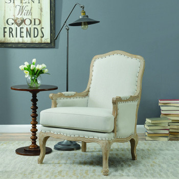 MATEO Beige Accent Chair