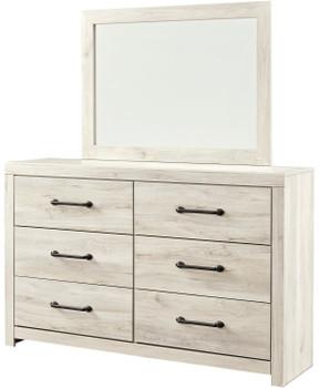 """EMEK White 59"""" Wide Dresser & Mirror"""