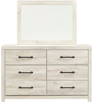 "EMEK White 59"" Wide Dresser & Mirror"
