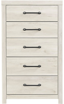 EMEK White 5 Drawer Chest