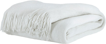"PREZTA White 50"" X 60"" Throw"
