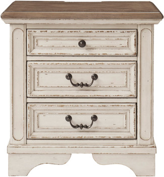 DELREY 3 Drawer Night Stand