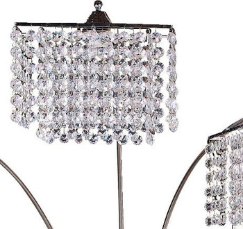 """ARITIA Crystal 84"""" Height Arched Floor Lamp"""