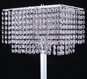"""ZULEYMA Crystal 60"""" Height Floor Lamp"""